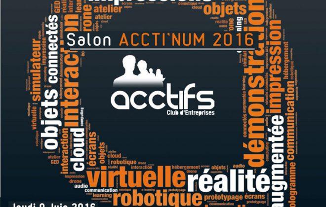 Organisation salon ACCTI'NUM aux Foréziales - Loire 42