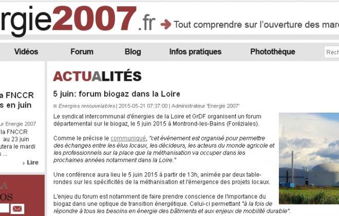 Forum biogaz dans la Loire